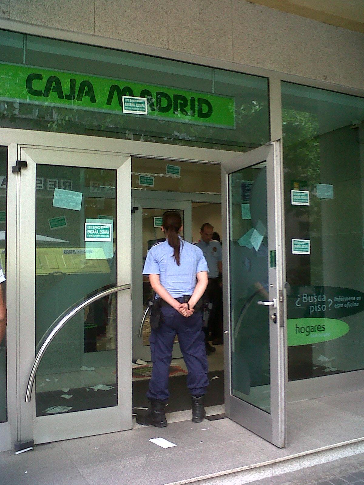 Mosso protegint Bankia